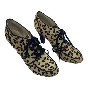 Topshop Leopard Print Genuine Calf Hair Bootie 9